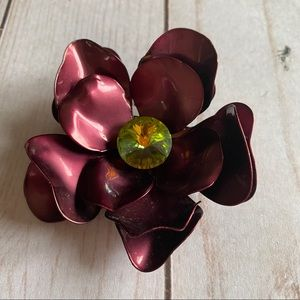 Pretty enamel flower brooch